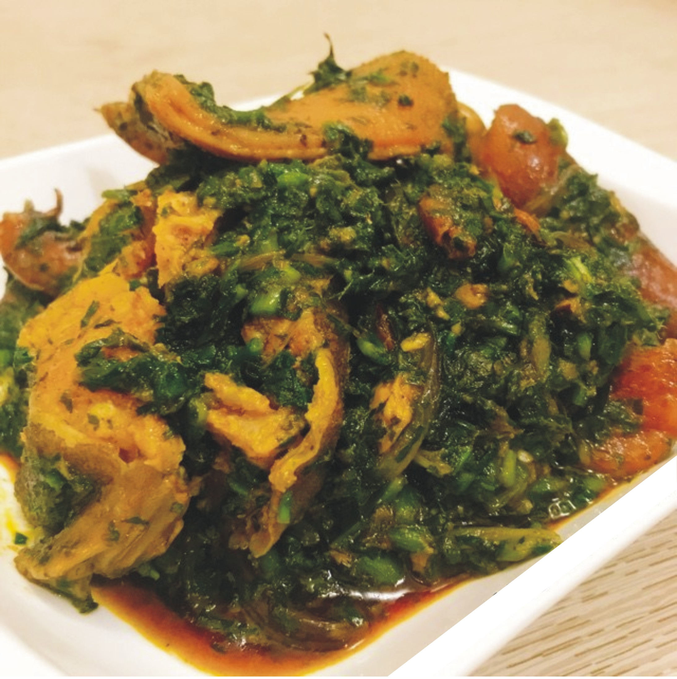 Afang Soup with full Stockfish