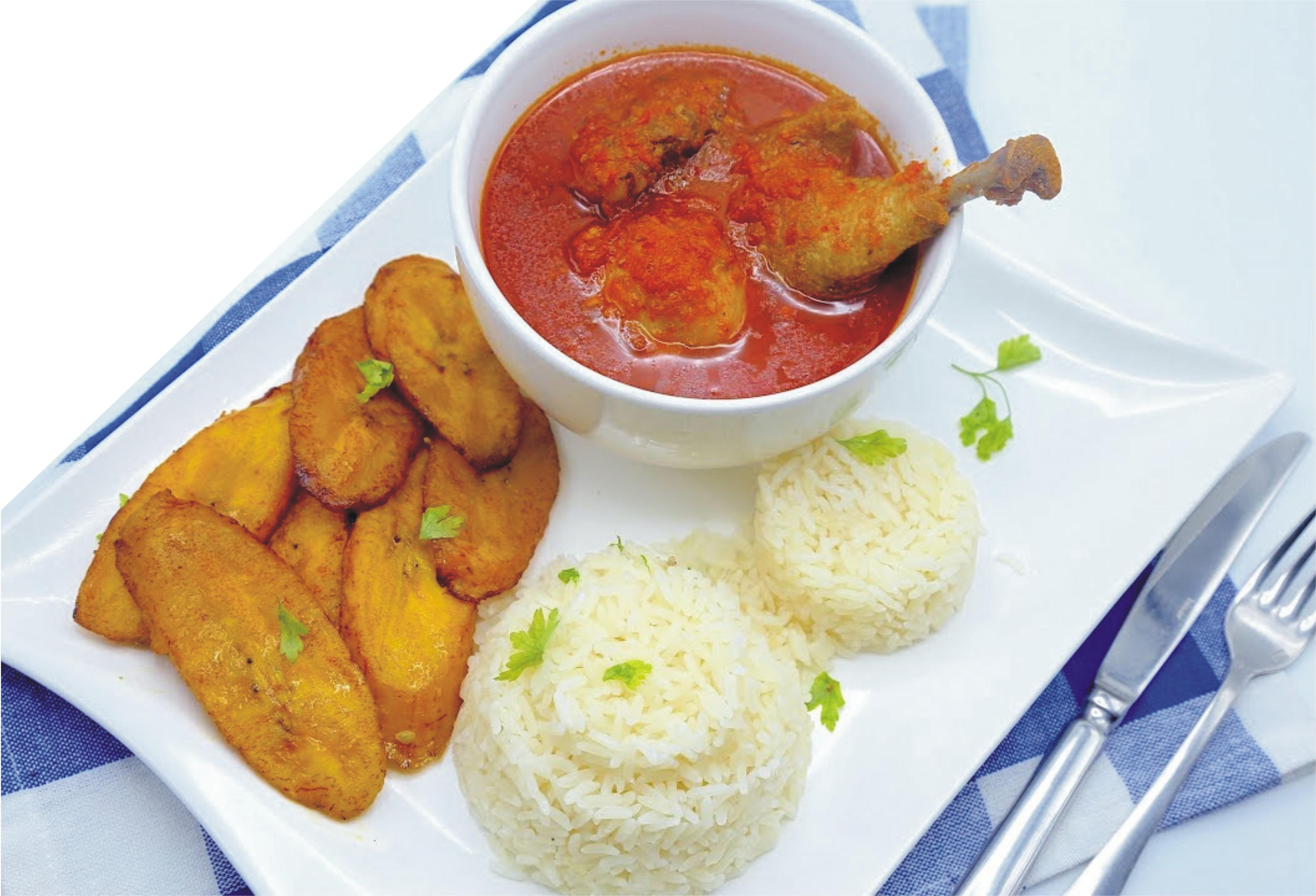 Plain Rice stew Chicken